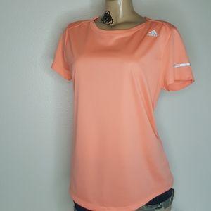 Adidas orange athletic running shirt size L